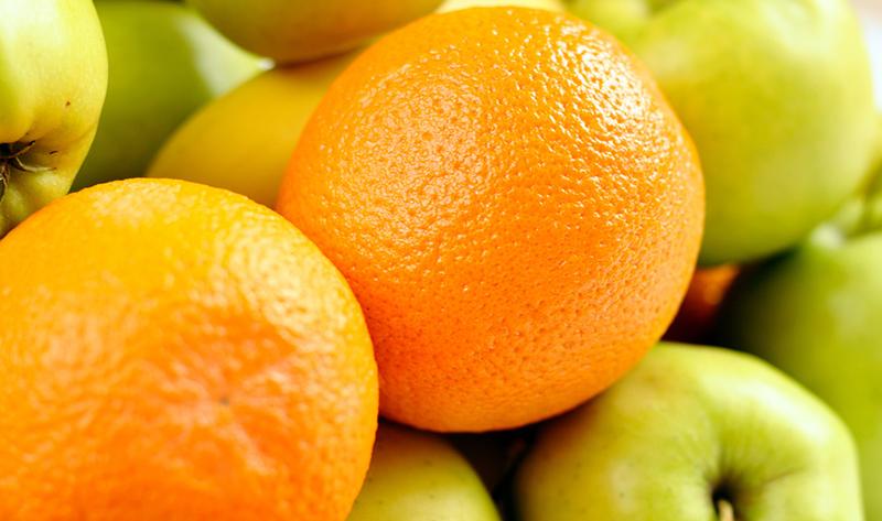 яблоко и апельсин в одной картинке этом случае