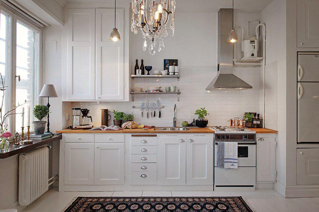 Интерьер белой кухни – истинная красота и современный стиль