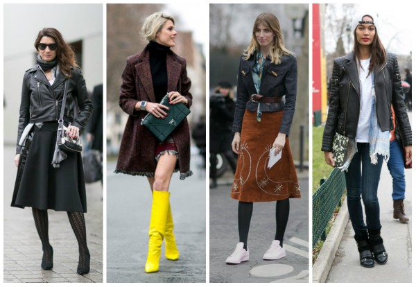 Тенденции уличной моды Нью-Йорка зима 2016